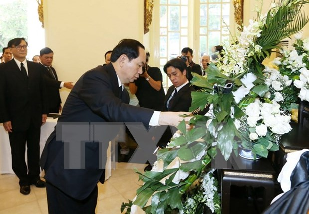 President pays tribute to late Thai King hinh anh 1