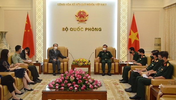 Deputy Minister of National Defence receives Chinese Ambassador hinh anh 1