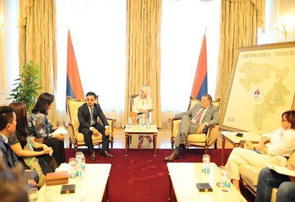 Bosnia-Herzegovina President meets billionaire Mai Vu Minh hinh anh 1