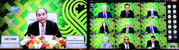 Remarks by President Nguyen Xuan Phuc at APEC Informal Leaders Retreat hinh anh 2