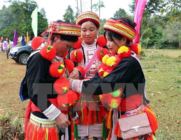 Red Dao women in Tuyen Quang boast unique costume hinh anh 1