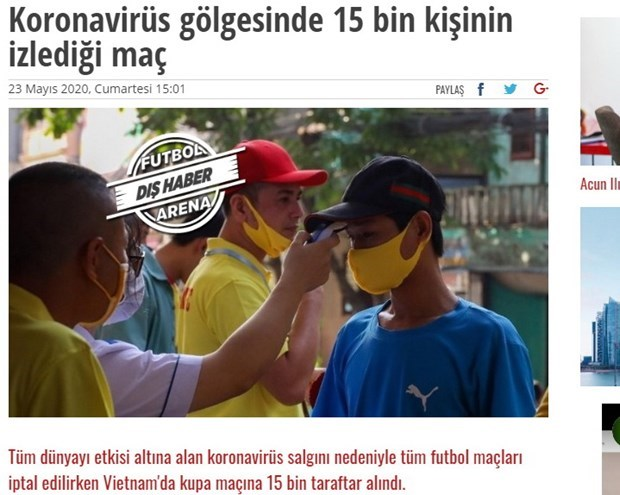 What did int'l media say about the return of Vietnamese football? hinh anh 1