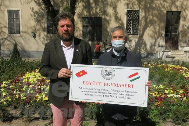 Vietnamese community supports Hungary's COVID-19 fight hinh anh 2