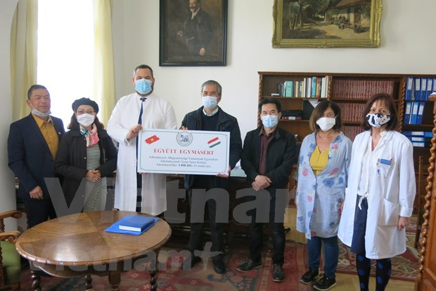 Vietnamese community supports Hungary's COVID-19 fight hinh anh 3