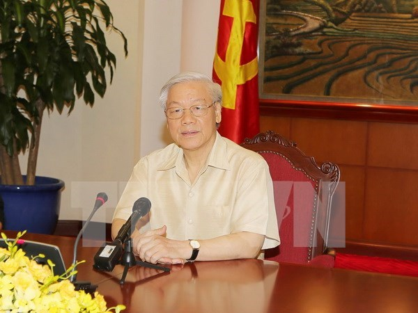 Party leader leaves for official visit to US hinh anh 1