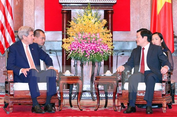 President welcomes US Secretary of State in Hanoi hinh anh 1