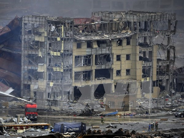 Condolences to China over Tianjin explosions hinh anh 1