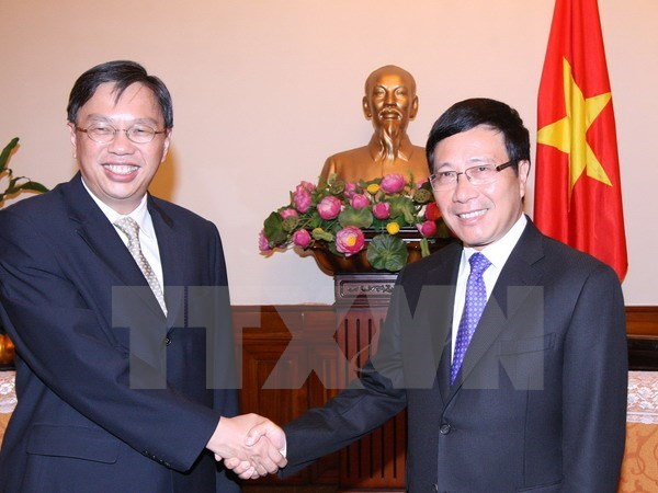 Vietnam, Singapore convene ninth political consultation hinh anh 1