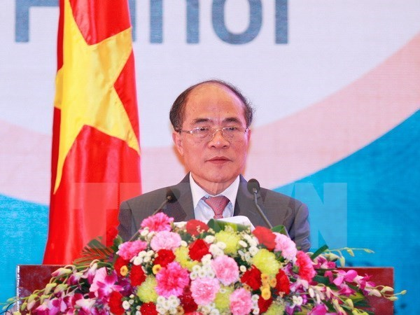 National Assembly Chairman leaves for US visit hinh anh 1