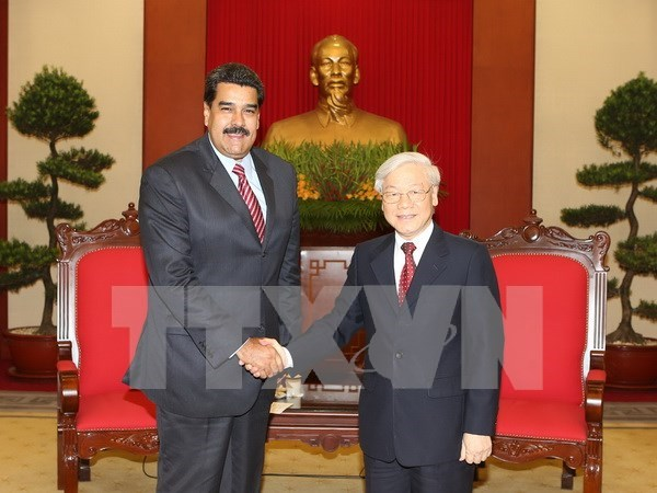 Party leader welcomes Venezuelan President hinh anh 1