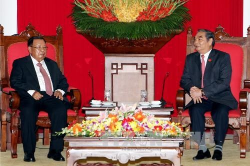 Lao Vice President affirms special solidarity with Vietnam hinh anh 1