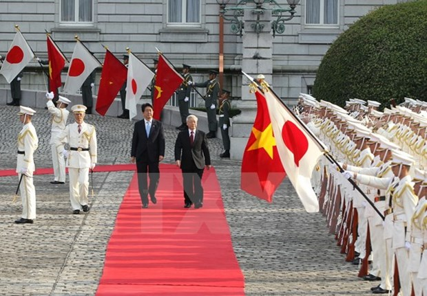 World media highlight Vietnamese Party leader's visit to Japan hinh anh 1