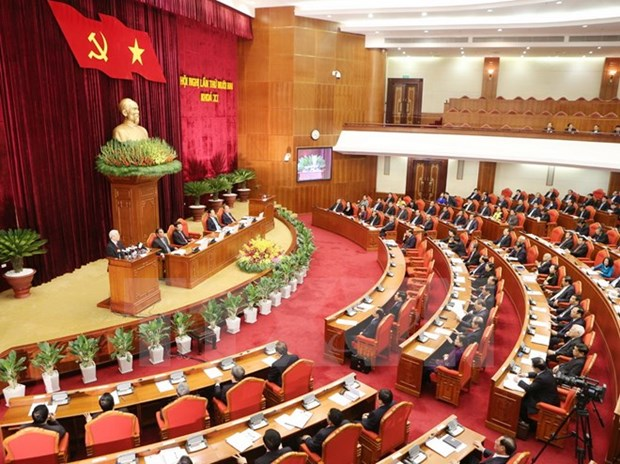 Party officials talk election of NA, People's Councils deputies hinh anh 1