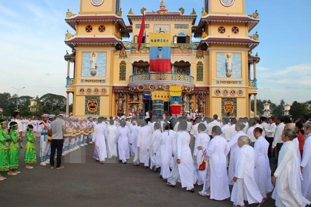 Festival marks 90th anniversary of Cao Dai religion hinh anh 1