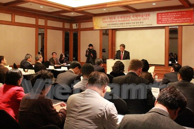 International workshop on peaceful solutions to East Sea dispute hinh anh 1