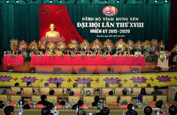 Hung Yen closes Party Congress, sets resolution hinh anh 1