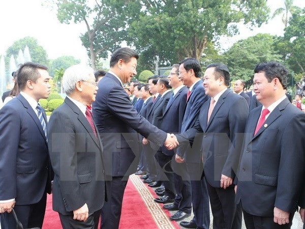 Chinese leader concludes Vietnam visit hinh anh 1