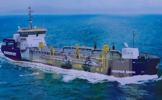 Vessel for Russian firm launched in Da Nang hinh anh 1