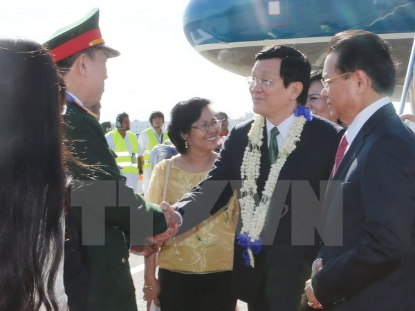 President meets Philippine lower house speaker hinh anh 1