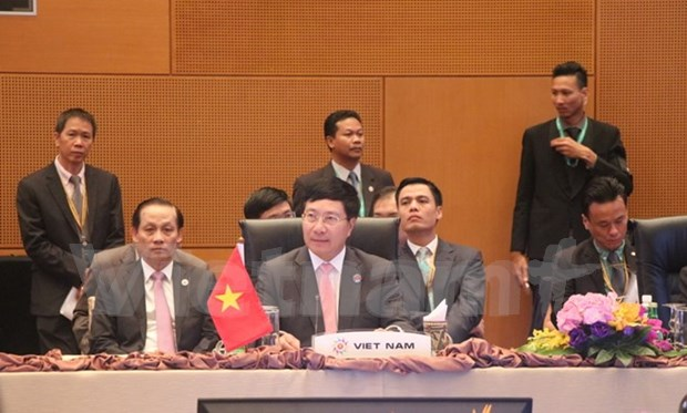 Foreign ministerial-level meetings held to prepare for ASEAN Summit hinh anh 1