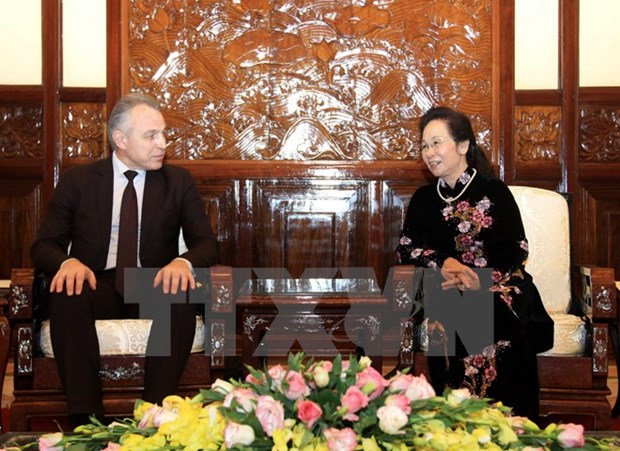 Vice President supports stronger trade union ties with Belarus hinh anh 1