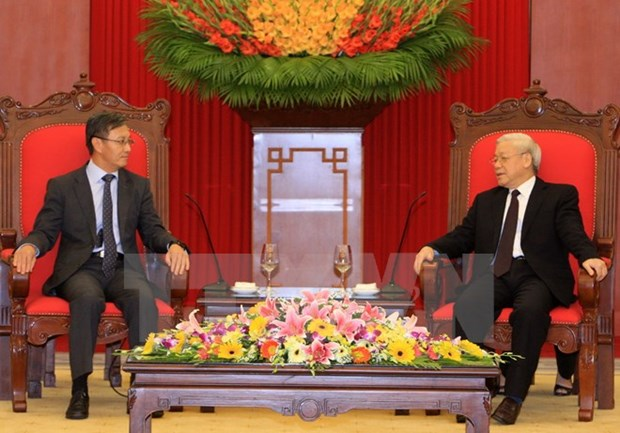 Party chief welcomes Lao diplomat in ambassadorial role hinh anh 1