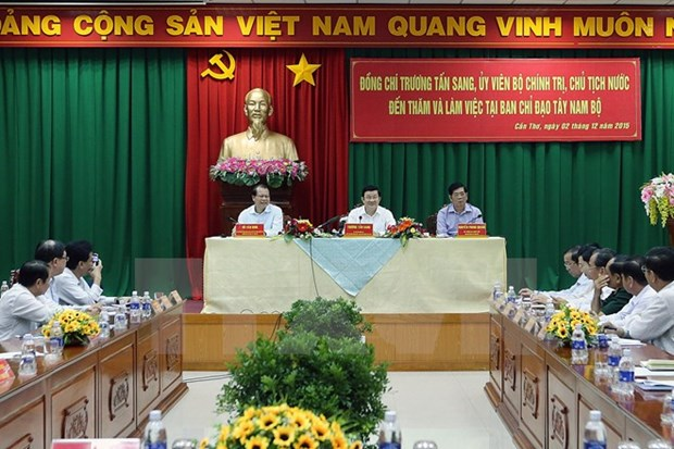 President confident in Mekong Delta's farming prospect hinh anh 1