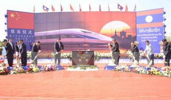 Work starts on Laos-China railway hinh anh 1