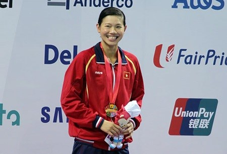 Vietnamese swimmer honoured by US magazine hinh anh 1