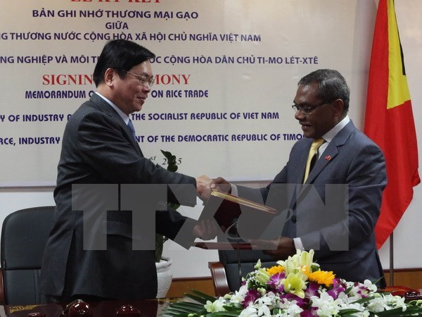 Vietnam, Timor Leste sign MoU on rice trade hinh anh 1