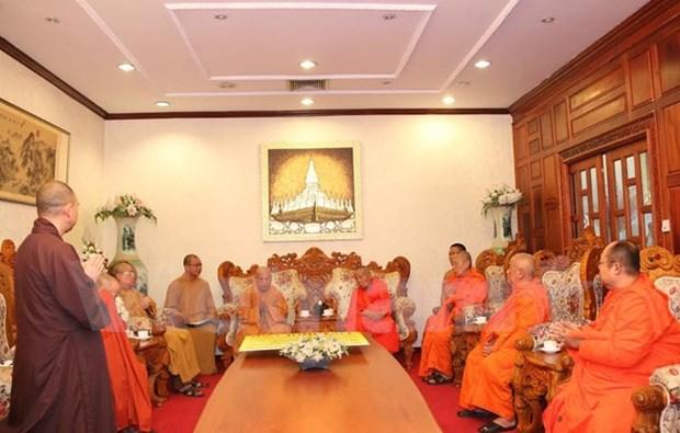 Vietnamese, Lao Buddhist sanghas look to enhance links hinh anh 1