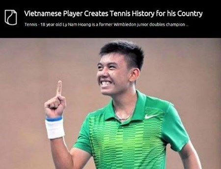 Vietnam's tennis player highlighted on US website hinh anh 1