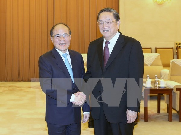 Vietnam's top legislator meets with CPPCC leader hinh anh 1