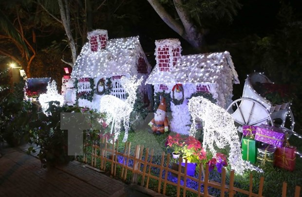 Foreigners enjoy warm Christmas in Vietnam hinh anh 1