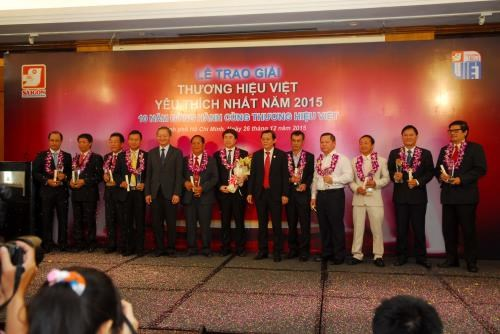 Most favourite Vietnamese brand names in 2015 announced hinh anh 1
