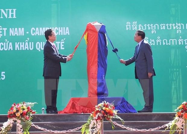 Key Vietnam-Cambodia border marker inaugurated hinh anh 1