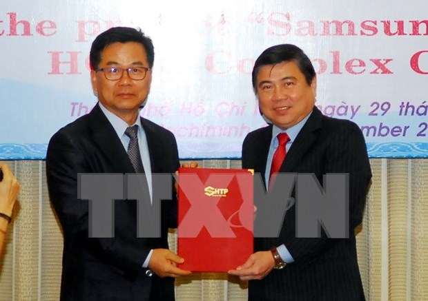 HCM City: Samsung's hi-tech project gets additional 600 mln USD hinh anh 1