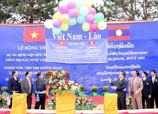 Vietnam helps Laos build hospital hinh anh 1