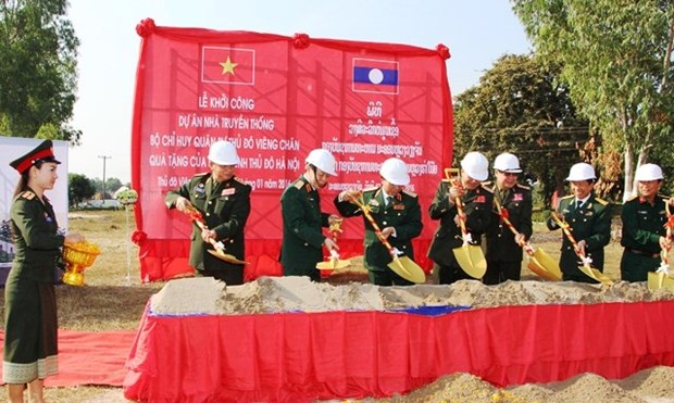 Hanoi helps Vientiane build military traditional house hinh anh 1