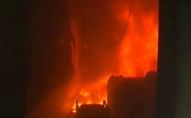 Myanmar: Huge fire in Yangon's market hinh anh 1