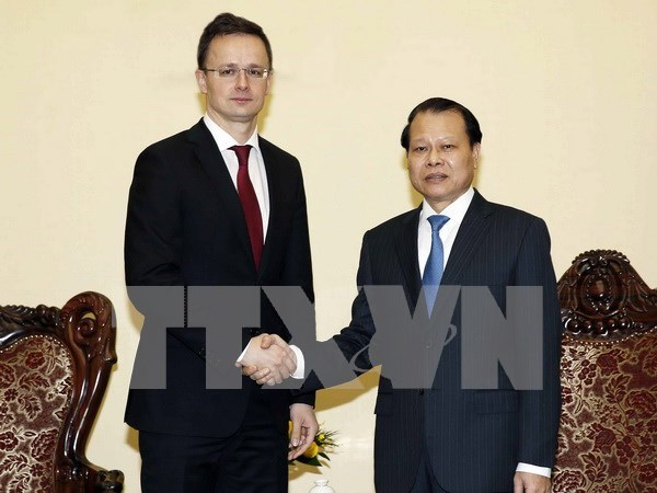 Deputy PM welcomes Hungarian foreign, trade minister hinh anh 1