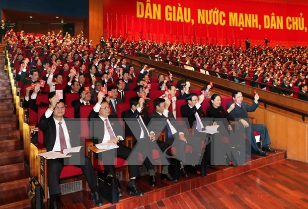 12th National Party Congress delegates hold preparatory session hinh anh 1