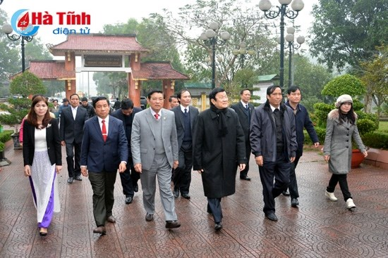 President pays pre-Tet visit to Ha Tinh province hinh anh 1