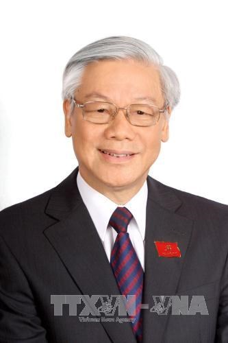 Congratulatory messages cabled to Party leader hinh anh 1