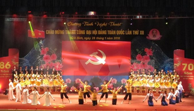 Laos, Cambodia congratulate Vietnam Party on 86th founding anniversary hinh anh 1