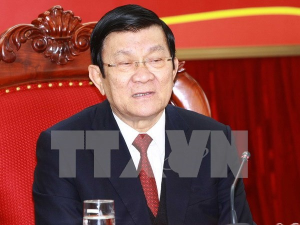 President pays pre-Tet visit to Long An hinh anh 1