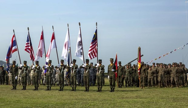 Thai-US hosted multinational military exercise launched hinh anh 1