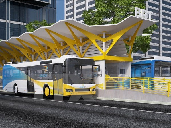 HCM City expects technical support to bus rapid transit line hinh anh 1