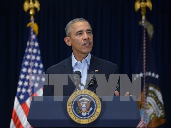 US President calls for steps to reduce East Sea tension hinh anh 1