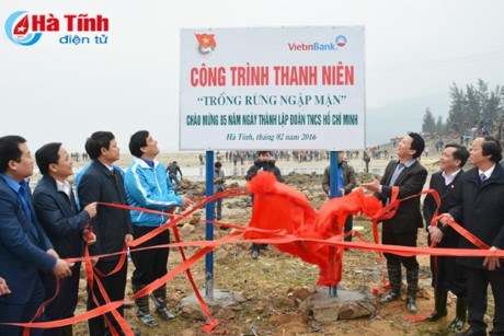 Youth launch Tree Planting Festival in Ha Tinh hinh anh 1